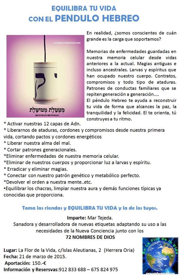 Nuevo Pendulo Hebreo en Madrid